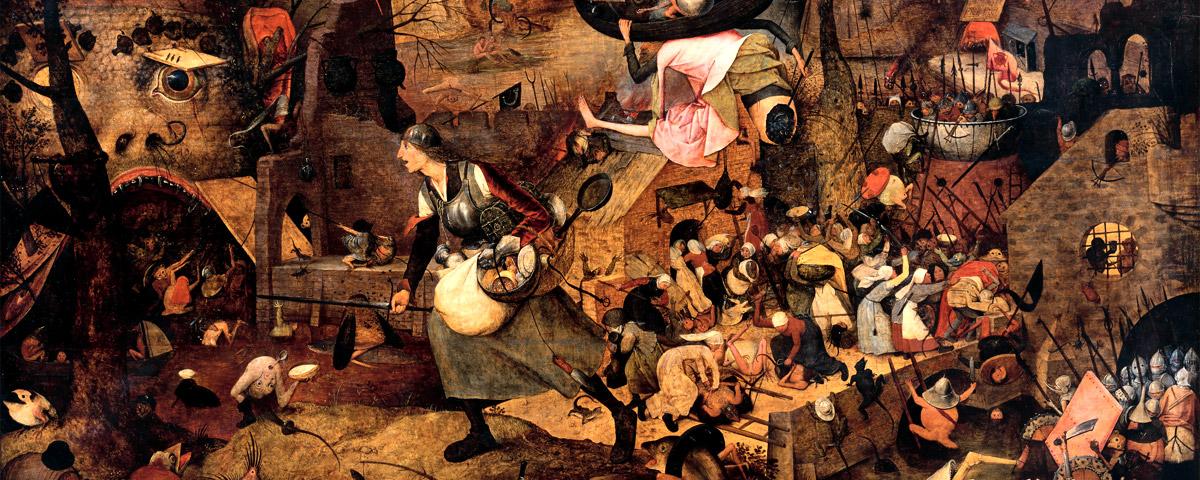 Pieter Bruegel d. Ä. (um 1525/30–1569 Brüssel): »Dulle Griet«, 1563 (Ausschnitt). Holz, 117,4×162cm. Antwerpen, Museum Mayer van den Bergh © Museum Mayer van den Bergh/Foto: Thomas Prochazka