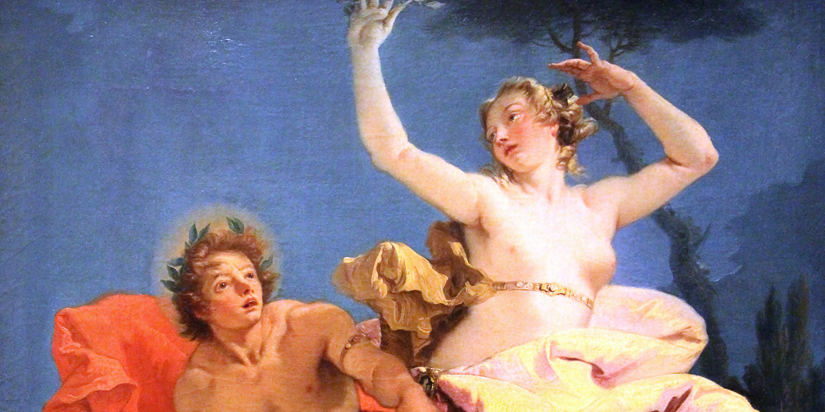 "Giovanni Battista Tiepolo(1696–1726): »Apollo e Dafne« (1743/44)&#x3b; Louvre, Paris (France) <a href=""https://creativecommons.org/licenses/by-sa/3.0/"">CC BY-SA 3.0</a> · Sailko"