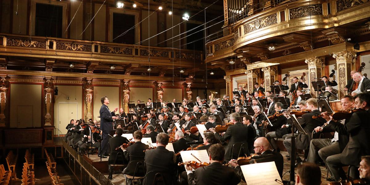 Christian Thielemann und die Wiener Philharmoniker bei der Einspielung der 5.Symphonie von AntonBruckner © Wiener Philharmoniker/Dieter Nagl